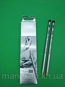 Олівець простий набір 12шт тм. Марко raffine №7000-12СВ (1 пач.)