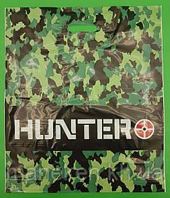 """Пакет з прорізною ручкою (45*53+3)""""Hunter""""Леомі (50 шт)"""