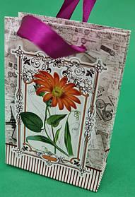 Пакет подарунковий паперовий МІНІ 8*12*3.5 арт67 (12 шт)