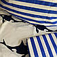 Двоспальний комплект 180х220 Блакитна Лагуна з сатину (50х70), фото 3