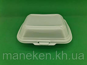 Ланч-бокс з спіненого полістиролу з кришкою (190*150*60) білий HP-9 (250 шт)