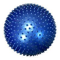 Мяч для фитнеса (с массажными шипами.). Диаметр 65 см.синий.
