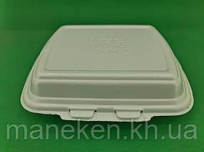 Ланч-бокс з спіненого полістиролу з кришкою (250*210*70) білий HP-1 (125 шт)