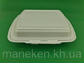 Ланч-бокс з спіненого полістиролу з кришкою (250*210*70) білий HP-2 (125 шт)