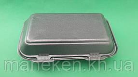 Ланч-бокс з спіненого полістиролу з кришкою (246*150*60) Чорний HP-10 (250 шт)