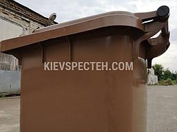 Євроконтейнер пластиковий, Weber V-120 л, коричневий, фото 3