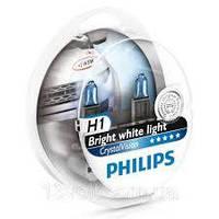 Лампа фары H1 12V 55W P14,5s Cristal Vision + 2x W5W 4300K (Philips)