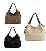Кожаная женская сумка Weidipolo через плечо (40х30х10 см)