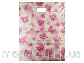 Пакет с вырубной ручкой Подарочный (40*50) №5 китай (100шт) (1 пач)