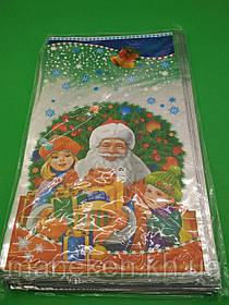 Фольгированный пакет Н.Г (20*35) №31 Дед Мороз и дети (100 шт)