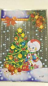 Фольгированный пакет Н.Г (20*30) №16 Снеговик и ёлка (100 шт)