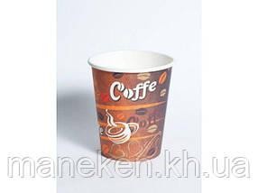 Стакан для напитков вендинговый 175мл №14 Красные зерна кофе Маэстро (50 шт)
