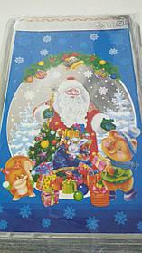 Фольгированный пакет Н.Г (20*35) №19 Дед мороз и зверятка (100 шт)