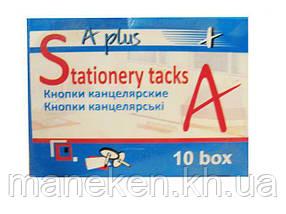Кнопка хром в картоновой упаковці 50 шт (A plus) №880 (1 пач.)