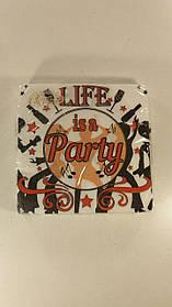 "Дизайнерская салфетка (ЗЗхЗЗ, 20шт)  La Fleur  ""Party"" (1 пач)"