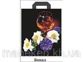 "Пакет з петлевий ручкою (42*50+3) ""Троянда-Келих"" ХВГ (25 шт)"