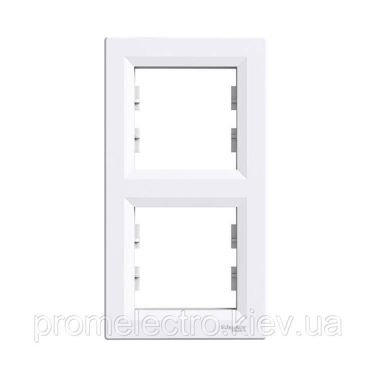 Рамка Schneider-Electric Asfora 2-постовая вертикальная белая (EPH5810221)