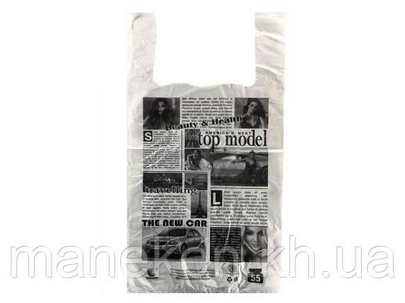"""Пакет майка поліетиленова (тип FA) 30*55 Газета """"Комсерв"""" (100 шт), фото 2"""