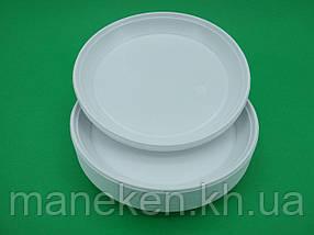 Одноразова тарілка для другої страви діаметр 205мм Супер (100 шт)