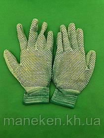 Господарські рукавички з поліуретановим покриттям і ПВХ крапкою (12 пар)