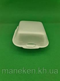 Ланч-бокс з спіненого полістиролу з кришкою (123*133*78) білий ТR-140 (200 шт)