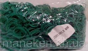 "Резинка денежная  №25 ( зеленая )*1,5мм  1 кг ""Plast"" (1 пач)"