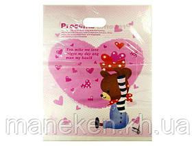 Пакет с вырубной ручкой Подарочный (40*50) №12 китай (100шт) (1 пач)