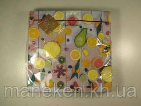 Дизайнерская салфетка (ЗЗхЗЗ, 20шт) Luxy  Райские фрукты 807 (1 пач)