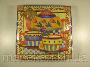 Дизайнерская салфетка (ЗЗхЗЗ, 20шт) Luxy  Чай для двоих 122 (1 пач)