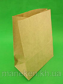 Пакет з дном паперовий 29*23*11 коричневий №26 (25 шт)