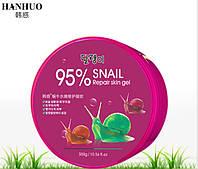 Увлажняющий, восстанавливающий улиточный гель HANHUO 95% Snail Moisture Soothing Gel, 300g, фото 1