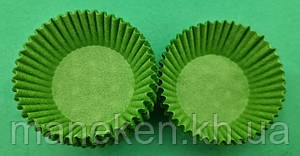 "Тартолетка для чизкейк  ""Круглая зеленая""D45 H26 (100шт)/6а/ (1 уп.), фото 2"