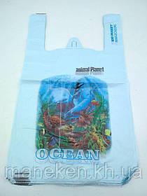 """Пакет з ручками( типу Майка ) (28+2*7,5х49) """"Океан """"Леоні (100 шт)"""