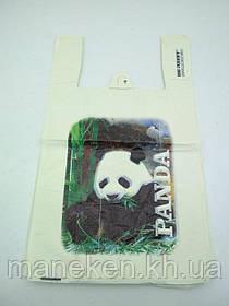 """Пакети """"майка""""(28+2*7,5х49) із зображення """"Панда """"Леоні (100 шт)"""