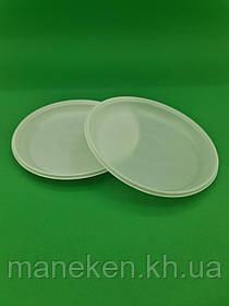 Тарілка одноразова діаметр 165мм біла Економ PGU (100 шт)