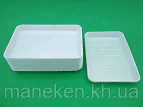 Одноразовий пластиковий Лоток , прямокутний (розмір 130х210) (100 шт)