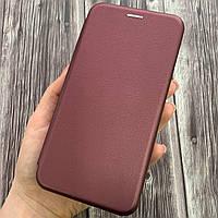 Чехол книга для Huawei Y6 Prime с эко кожи с подставкой книжка на телефон хуавей у6 прайм бордовая STN