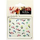 Наклейки для Ногтей Слайдер Дизайн 3D Nail Stickers FP-Н-22, Цветы Орнамент на Френч Дизайн Ногтей, Маникюр, фото 4