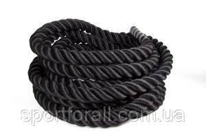 Канат для кроссфита черный диаметр-38мм -1м пог