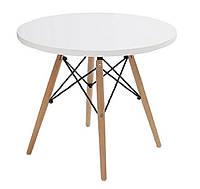 Стол обеденный Тауэр вуд  дерево, бук, диаметр 100 см, цвет белый, фото 1