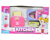 Набор Кухня 802-5/6 (12шт/2) 2 вида, свет-звук,духовка,быт.техника,продукты,в кор.36*13,5*32см