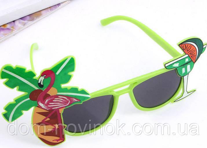 Очки гавайская вечеринка (зеленые).