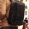 Рюкзак мужской городской спортивный с спинкой Black черный