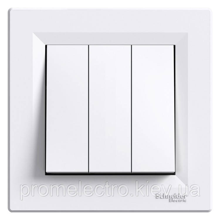 Выключатель Schneider-Electric Asfora 3-клавишный белый (EPH2100121)