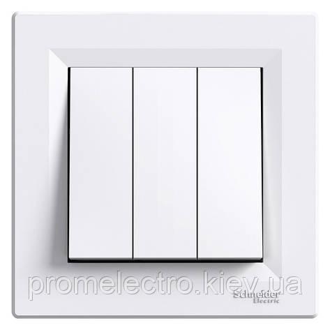 Выключатель Schneider-Electric Asfora 3-клавишный белый (EPH2100121), фото 2