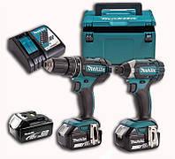 Набор аккумуляторного инструмента Makita DLX2127TJ1 (DDF482, DTD152, ЗУ DC18RC, аккум BL1850Bx3шт - 5 Ач. ,