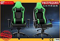 Компьютерное Игровое Кресло Геймерское с MultiBlock для Геймера GT Racer X-0814 Черное / Зеленое