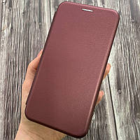 Чехол книга для Samsung J7 2016 J710 с эко кожи с подставкой книжка на телефон самсунг дж7 дж710 бордовая STN
