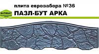 """Плита еврозабора №36 """"Пазл-бут арка"""", полуглянцевая."""
