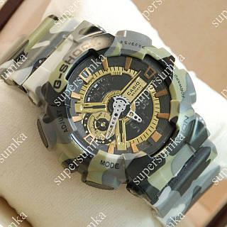 Популярные спортивные наручные часы Casio GA-110 Militari Gold Gray 6023